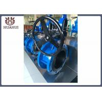 China Handle Type Doule Flanged Butterfly Valve Ductile Iron Resilients Seated on sale