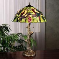China Tropical Paradise Stained Glass Lamp on sale