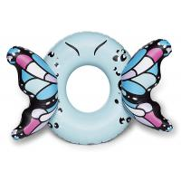 Quality Customized Blue Butterfly Wings Pool Float , Adult Pool Tube With Patch Kit Included for sale