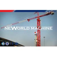 Quality Red Steel TC5210 6T Construction Tower Crane With Hammer Head for sale