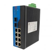 Quality IP40 Protection Managed Industrial Ethernet Switch 10 Port With 5 Years Warranty for sale