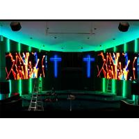 China Digital Signage Church LED Screen Indoor Full Color For Sound Video Loop System on sale
