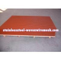 Buy cheap Red Spray Paint Heavy Gauge Screen Mesh , Square Heavy Duty Metal Mesh Screen from wholesalers