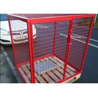 Quality Eco Friendly Propane Tank Storage Cage , Gas Tank Cage With Galvanized Material for sale