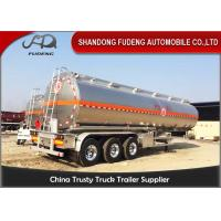 Buy cheap 304 Stainless Steel 15000 Gallon 35000L Diesel / Gasoline Tank Trailer With 12 Wheeler product