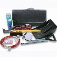 Quality Car Emergency Kit, Include Booster Cable and Towrope Ice Clear for sale