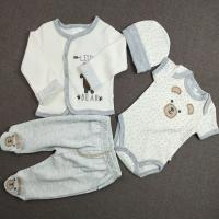 Quality Little Baby Boy Clothing Sets 4pcs Long Sleeve With Bear Shape OEM Service for sale