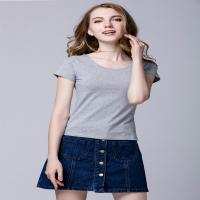 China Casual Cool Ladies Short Sleeve Shirts S - XL Customized Size Sweat Absorption on sale