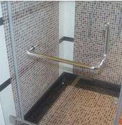 Quality Bathroom Glass Door Handle With Lock / Stainless Steel Pull Door Handles for sale