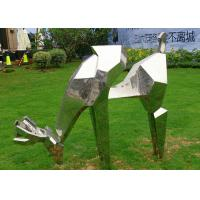 Quality Life Size Outdoor Metal Sculptures Animals Deer For Landscape Decoration for sale