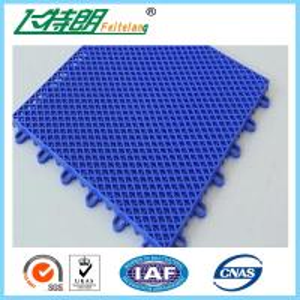 Quality Blue Interlocking Play Mats For Tennis Court / Modular Hockey Floor Tiles for sale