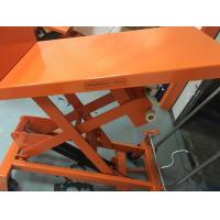 Quality Mobile Aerial Work Hydraulic Tilt Table Orange Color With Protection Bracket for sale