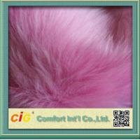 Quality Pink Toys 800g / m Faux Fox Fur Fabric For Garment And Funiture for sale