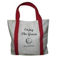 China Promotional Grocery Cotton Carrier Bags , Durable Reusable Shopping Bags For Children Clothing on sale