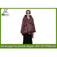 Quality 239g 145*135cm 100%Acrylic Woven Houndstooth Jacquard Poncho hot sale new style  keep warm fashion sallow grid scarf for sale