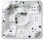 Quality 5 Person Capacity Hot Massage Tub , Hot Tub Spa Corner Drain Location PFDJJ 08 for sale