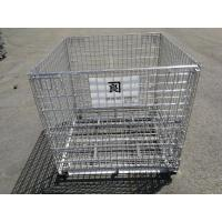 Quality Foldable Metal Mesh Storage Cages / Mobile Storage Cage Q235 Material for sale