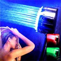 Quality Bathroom Illuminated RGB 3 Colors LED Shower Head Light for sale