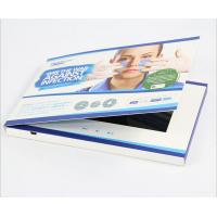 "Quality 7"" Lcd Video Brochure With Stand , Hard Cover Lcd Video Booklet Rechargeable Battery for sale"