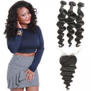 China Heathly Indian Human Hair Bundles Loose Wave , 100 Indian Human Hair Weave on sale