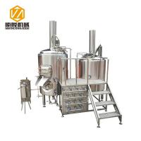 Quality Multifunctional Beer Brewing Equipment Brewhouse Combanation With 8 Fermentation Tanks for sale