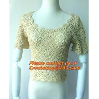 China Blouse Vintage Sleeve, White Black Crochet Casual Shirts Tops, tops, crocheted garment on sale
