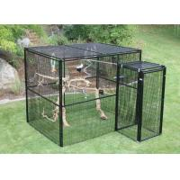 China Welded Wire Lifestyle Deluxe Metal Bird Aviary Powder Coated Black Color on sale