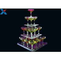 Quality Clear 3 Layer Acrylic Wine Holder , Lucite Display Stands Durable And Chemical Stability for sale