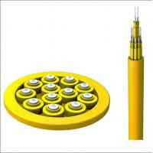 Quality Distribution 24 Pair Fiber Optic Cable Singlemode G652D FRP Strength Member for sale