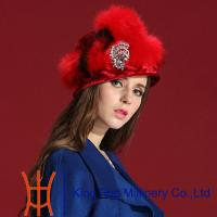 China Winter Russian Fur Hats For Lady , Fashion Red Handmade Fox Fur on sale
