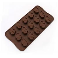 China Heart Shaped Cookie Silicone Chocolate Molds Easy Filling Dishwasher Safe on sale