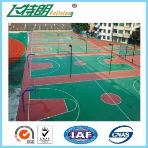 Quality 3mm Sport Court Flooring Basketball / Badminton / Tennis Court Acrylic Paint for sale
