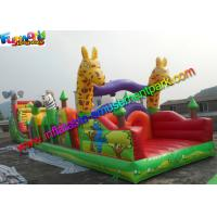 China Customized Jungle Interactive inflatable obstacle course for adults With 18m on sale