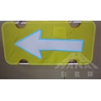 Quality Iron Support Customized Reflective Traffic Signs Outdoor Light Emitting for sale