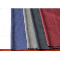 Quality One Side Wool Coating Fabric 25% Viscose 35% Polyester For Dry Cleaning Dress for sale