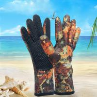 China 2.5MM four size nonslip diving gloves, neoprene scuba gloves pattern design camo color on sale
