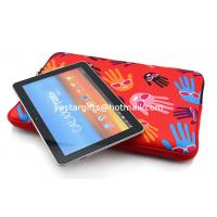 Quality Durable Palm Neoprene Tablet Sleeve Red With Two Zipper Closure for sale