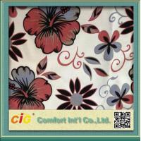 Quality Polyester Sofa Upholstery Fabric 2 Color Tone Flocking / Printing for sale