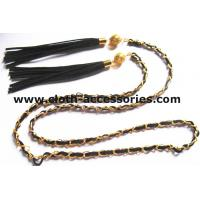 Buy Fringe Gold  Chain Belts For Ladies / Durable Sweater Skinny Waist Belt at wholesale prices
