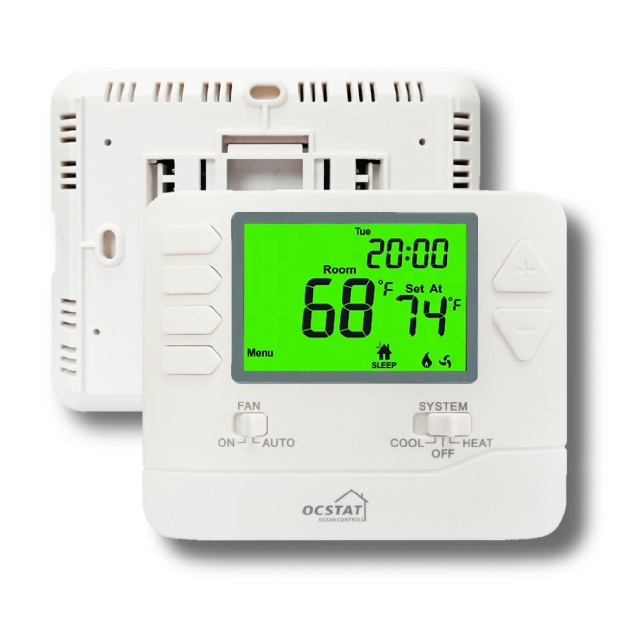 Quality 24Volt 50 / 60 HZ Multi Stage Weekly Programmable Thermostat For Underfloor Heating for sale