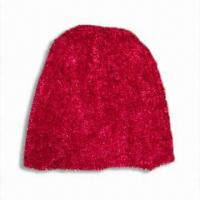 Quality Feather Yarn Hat, Available in Red for sale