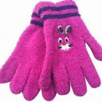 Quality Men's/Women's and Children's Magic Gloves with Embroidered Designs, Made of 100% polyester for sale