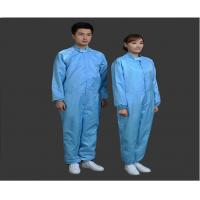 Buy Safety Clean Room Garments Stand Collar ESD Coverall For Printing Industry at wholesale prices