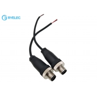 Quality M12 4Pin Screw Type Aviation Connector Male Power Cable For Rear View Camera CCTV System for sale