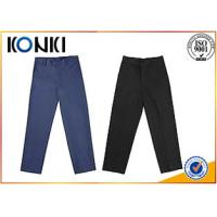 Quality Anti - Wrinkle Custom Pants , Black Boys School Uniform Pants for sale