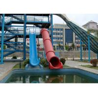 Quality Exciting Huge Young People Fiberglass Water Slide Water Play Equipment for sale
