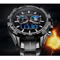 Buy cheap Wholesale Men Minitary Sport Watches 3D Dial Analogueand Digital Dual Time Steel from wholesalers