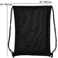 China Black Nylon  Travel Shoes Mesh Drawstring Bags Waterproof Tear Resistant on sale