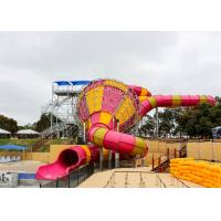 Quality Medium Tornado Water Slide Commercial Extreme Water Slides For Gigantic Aquatic Park for sale