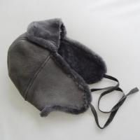 Quality Classical custom shearling sheepskin double face mens winter hat for sale